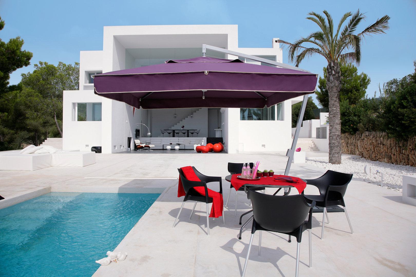 Sombrilla amalfi de m stil lateral con manivela todo en - Sombrillas para piscinas ...