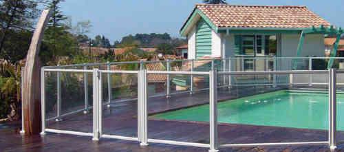 Vallas para piscinas todo en piscinas y jard n - Vallas de cristal ...