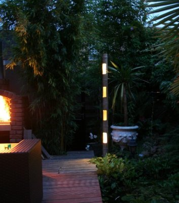 Bamb con iluminaci n led todo en piscinas y jard n - Iluminacion led jardin ...