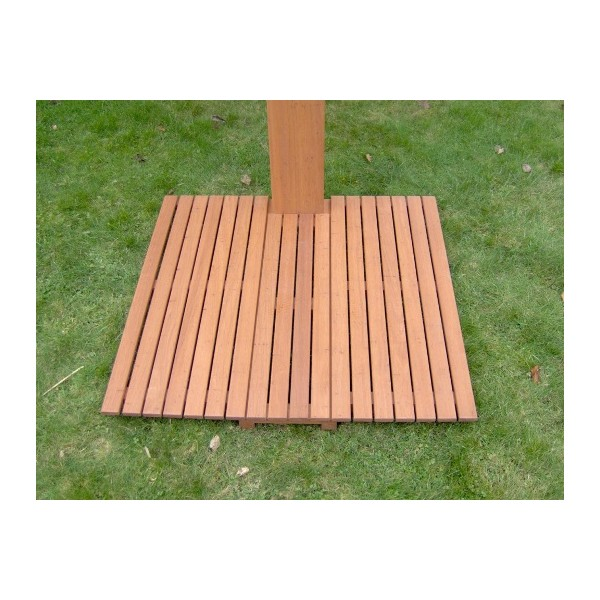 Ducha exterior de madera todo en piscinas jard n for Duchas para piscinas exterior