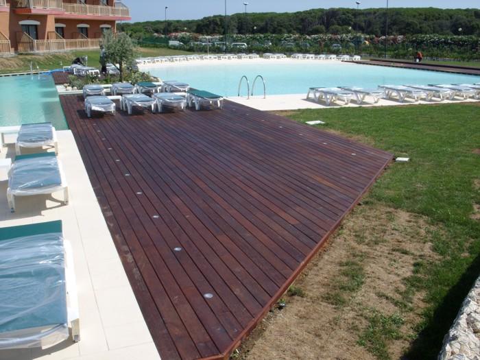 Suelo de madera de instalaci n r pida todo en piscinas y - Madera para suelo ...