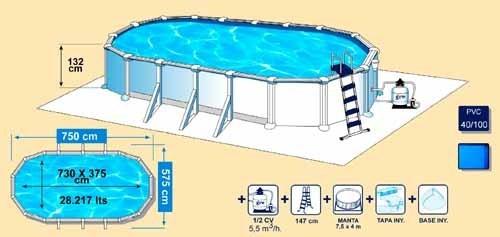 730x375x132 Oval Above Ground Pool Atlantis Agp Pools
