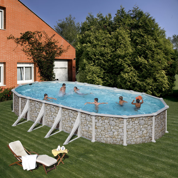 730x375x132 oval above ground pool skyathos agp pools for High quality above ground pools