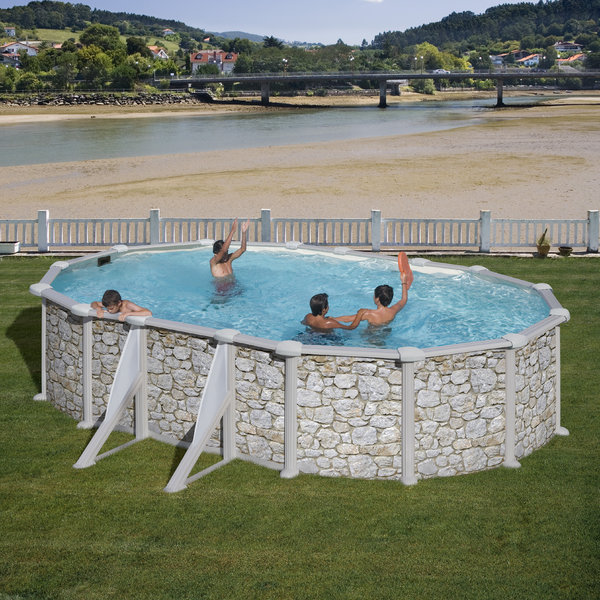 610x375x132cm oval above ground pool skyathos agp pools for High quality above ground pools