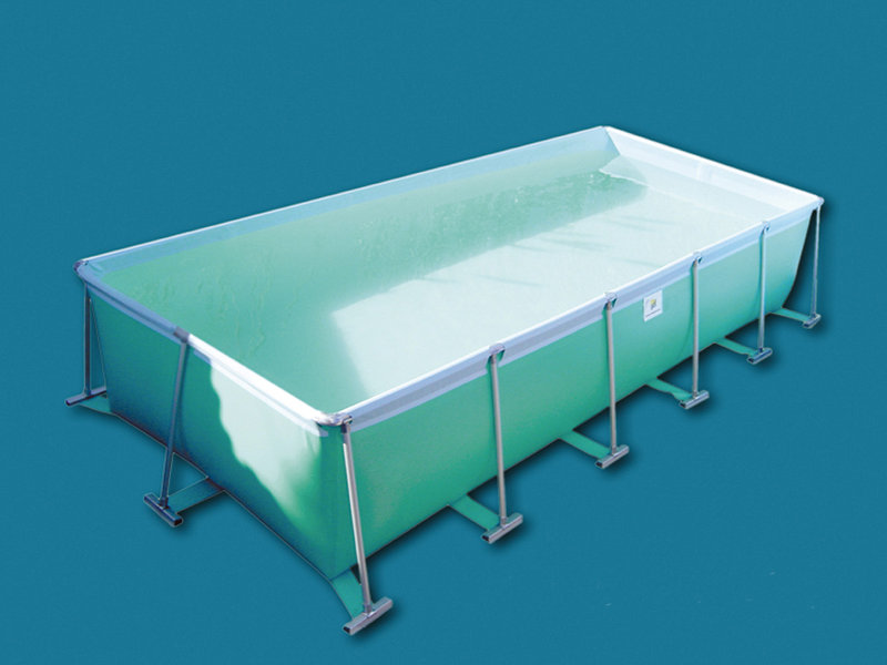 Piscina elevada rectangular de piscianas lona for Piscina lona rectangular