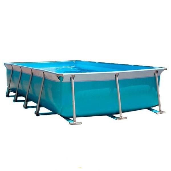Piscina elevada rectangular de piscinas lona for Piscina lona rectangular