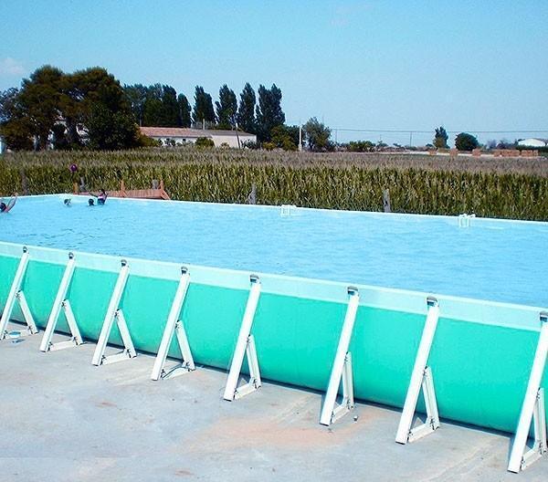Piscina elevada rectangular de piscinas for Piscina lona rectangular