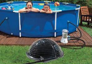 Calentador solar para piscinas aquadome todo en piscinas for Calentar agua piscina
