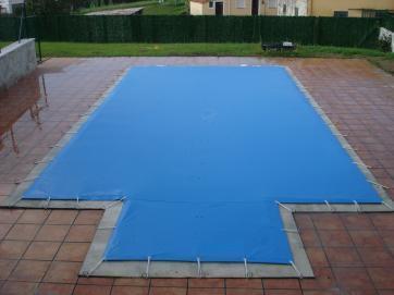 Cobertor de invierno para piscinas azul crema todo en for Precio cobertor piscina