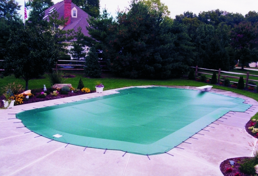 Winter Pool Cover Green Beige All In Swimming Pools And Gardens