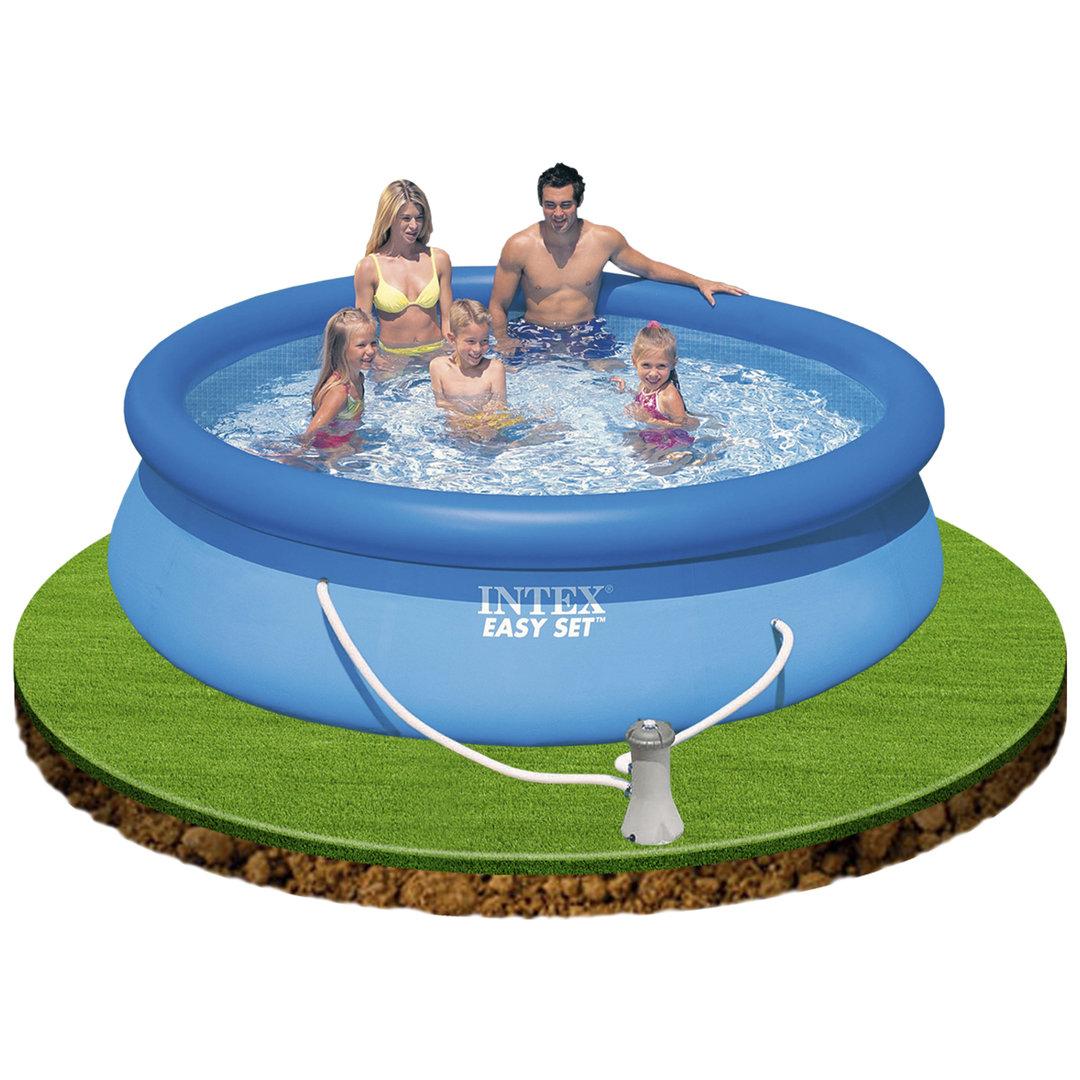 Piscina easy set 305x76cm con depuradora piscinas for Piscinas rectangulares con depuradora
