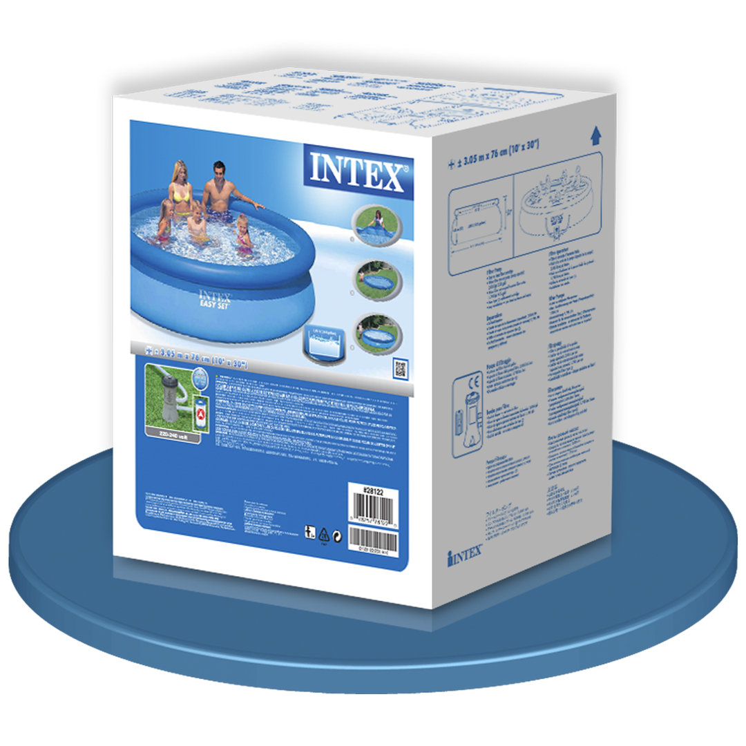 Easy Set Pool 305x76cm With Filter Removable Pool