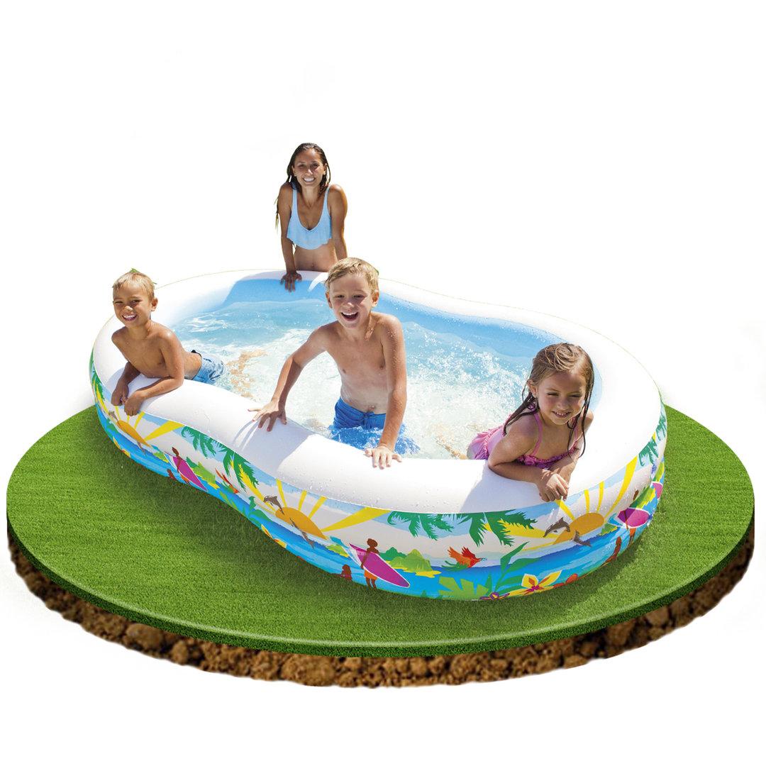Piscina hinchable paradise de 262x160x46cm piscina - Hinchables para piscina ...