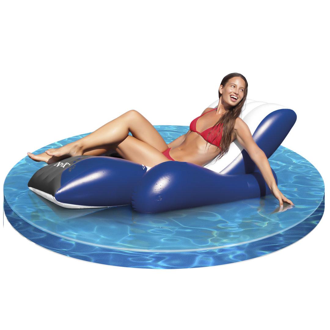 Sill n hinchable para piscina y jard n silla de agua for Colchonetas para piscina