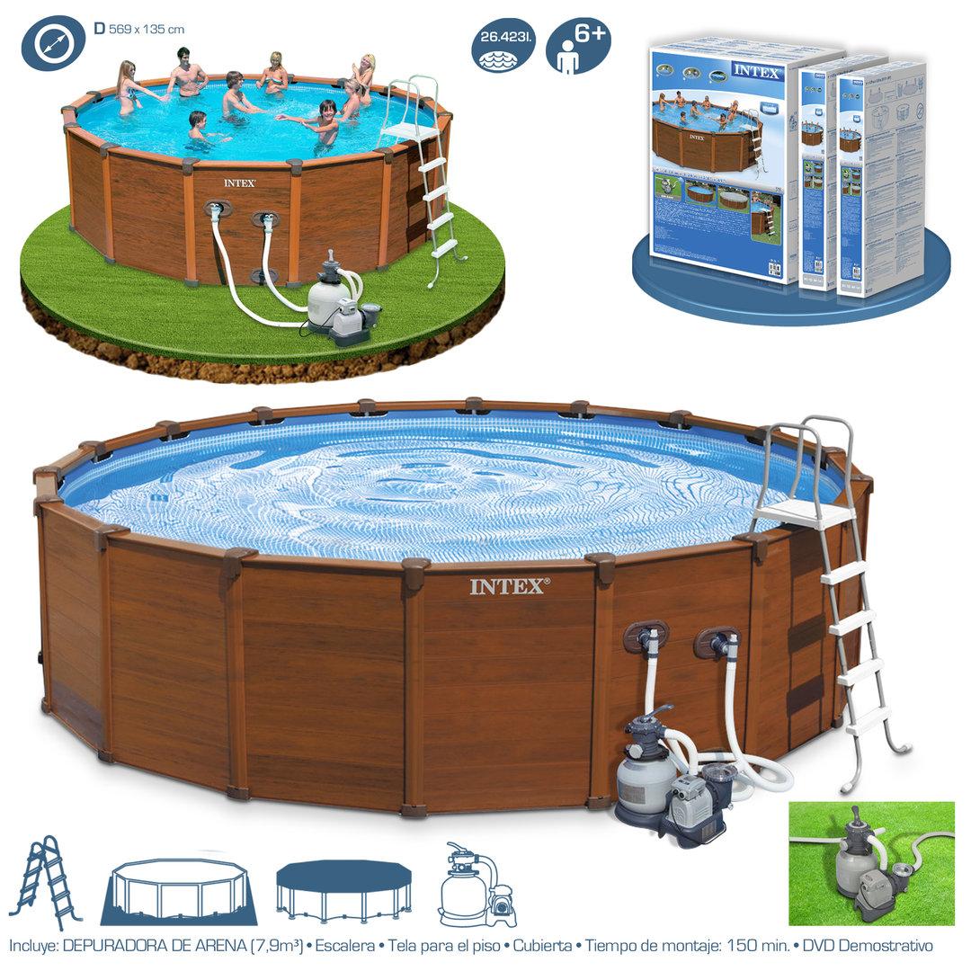 Agp pool sequoia spirit w sewage above ground pools for Intex sequoia