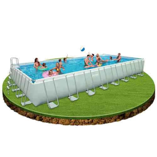Piscinas elevadas de pvc o hinchables piscinas desmontables for Piscina hinchable rectangular