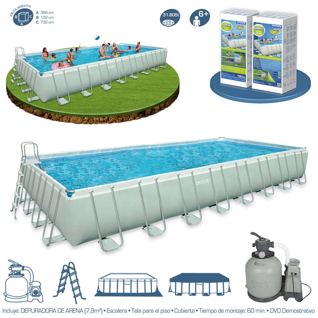 ultra frame pool 732x366x132cm removable pools. Black Bedroom Furniture Sets. Home Design Ideas