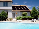 Solar heating swimming pool system 16 m2