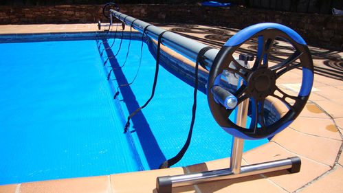 Telescopic reel with 2 steering wheels from 5.5 to 7.25 m