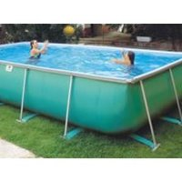 Removable swimming pools of aluminum and polyester