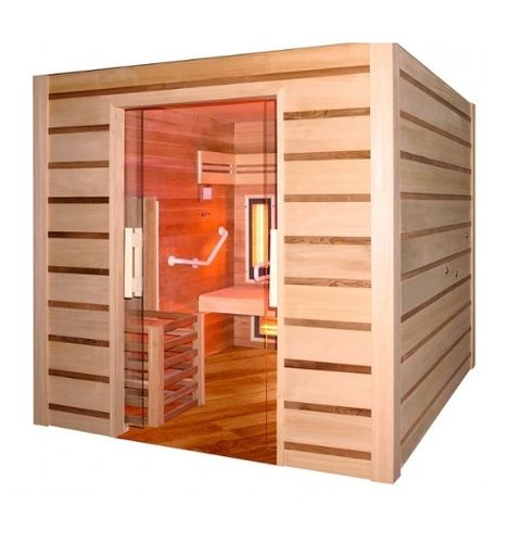 Hybrid Sauna for reduced mobility and 4 people