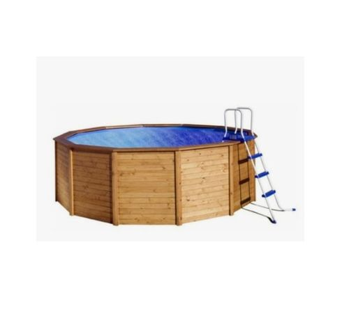Round paneled wood pool from 315 to 75 cm