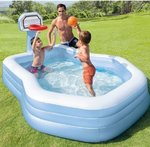 188x130 cm inflatable pool with ring and ball