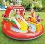 Inflatable children's pool with play center