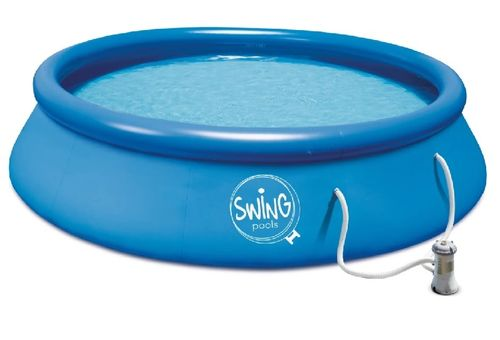 Swing round inflatable pool 3.66 m x 84 cm filter