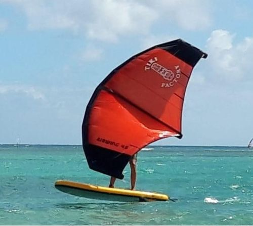 Inflatable Tiki Airwing for Windsurfing and Foil